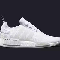 Adidas originals NMD R1 Men - Triple White Monochrome Mesh Boost