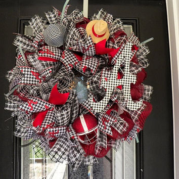 Alabama Football Wreath, Alabama Decoration, Alabama Door Hanger Ready to ship
