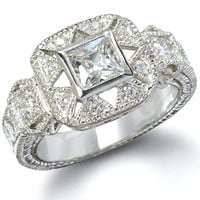 The Cinderella Sterling Silver CZ Antique Ring
