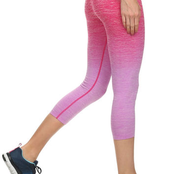 ANCHORA Active Leggings - Fuschia Ombre Capri