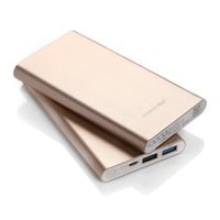 Poweradd Pilot 2GS 10000mAh Dual USB Portable Charger External Battery Pack with Auto Detect Technology - Golden