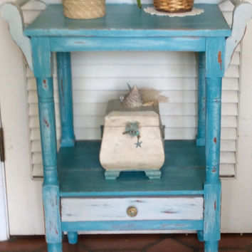Vintage Blue Nightstand/Washstand 1930s