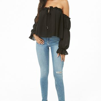Off-The-Shoulder Ruffle-Trim Top