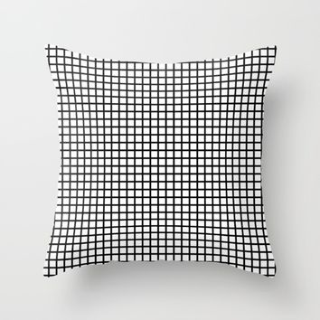 #46 Grid Throw Pillow by Minimalist Forms