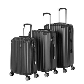 "TOMSHOO 3PCS Women Travel Luggage Set Carry-on Scooter Suitcase Men ABS Hard Shell Koffer Trolley 20""24""28"" Password Valise SM6"