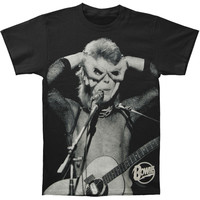 David Bowie Men's  Acoustic T-shirt Black Rockabilia
