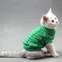 Small Pet Dog Puppy Cat Warm Sweater Winter Apparel Costumes Clothes Knit Coat good quality