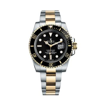 ¥Rolex¥ Submariner 116613LN Mens Watch Two Tone Ceramic Bezel