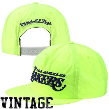 Mitchell & Ness Los Angeles Lakers Neon Snapback Hat