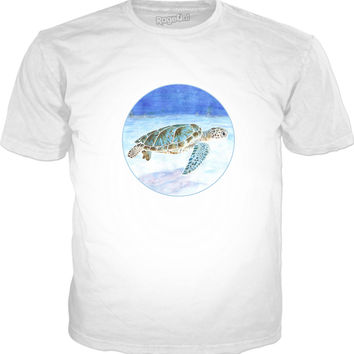 Sea turtle underwater Classic T-Shirt White