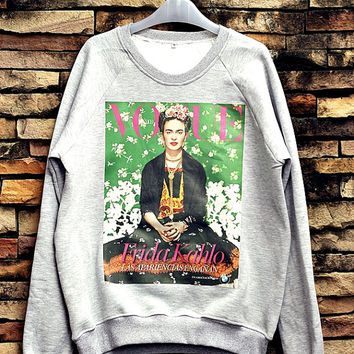 Frida Kahlo Sweatshirt Crewneck Sweater Unisex