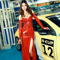 Fashion Latex Evening Dress