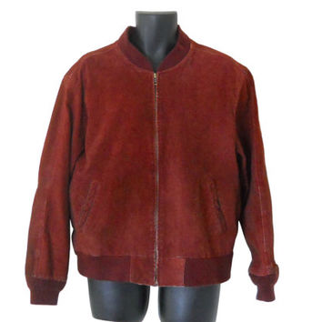 Men Leather Bomber Jacket Suede Bomber Jacket 90s Bomber Jacket Leather Aviator Jacket Men Leather Jacket Maroon Leather Jacket Red Leather