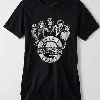 AEO x Bravado Band T-Shirt , Black