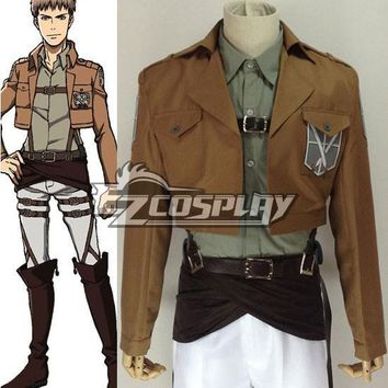 Cool Attack on Titan Japanese Anime Outfit  (no ) Jean Kirstein Cosplay Costume E001 AT_90_11