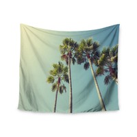 """Palm Tree Views"" Look To The Sky Trendy Boho Wall Tapestry"