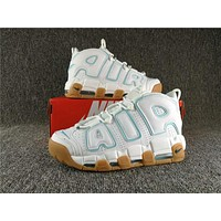 Air More Uptempo White/Laker Blue Sneaker 36--45