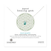 healing gem blue quartz necklace, sterling silver - Dogeared