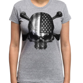 USA Flag Skulls Rebel