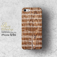 Note music sheet on wood pattern / not real wood, Unique Decoupage case, Samsung galaxy S4 iPhone 5/5S iPhone 4/4S iPhone 3Gs case.