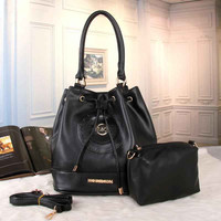 MK Women Shopping Bag Leather Satchel Handbag Shoulder Bag Two piece Set