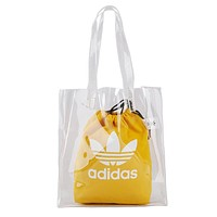 Adidas Nike Summer New Women Print Transparent Canvas Handbag Tote Shopping Bag Yellow