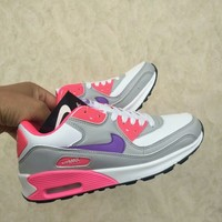"""Nike Air Max 90"" Women Casual Fashion Multicolor Air Cushion Sneakers Running Shoes"