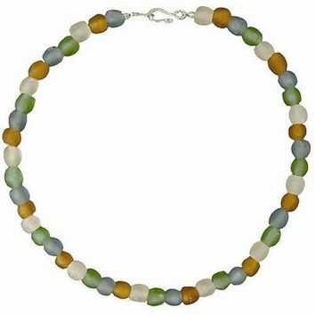 Rainbow Pearl Glass Bead Necklace - Global Mamas