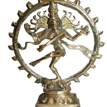 Agan Traders Bronze Goddess Nataraj ~ Dancing Shiva Statue Home Office Decor Yoga Center Fair Trade Nepal (12 inches; 4 lb)