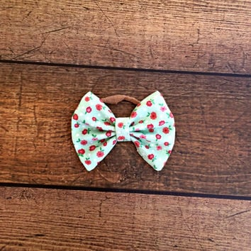 mint bow, floral bow, baby bows, baby headband, newborn headband, baby girl headband, baby bow set, hair bows, baby shower gift, baby bows