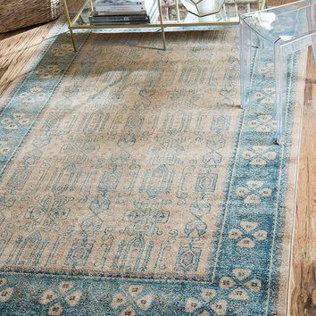 5112 Beige Distressed Oriental Area Rugs
