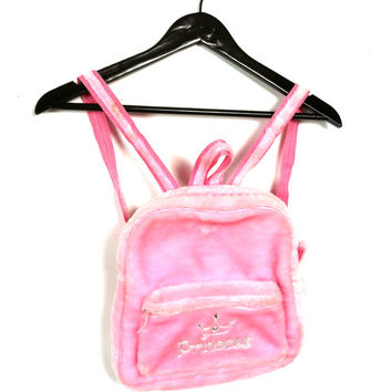Fuzzy Pink Princess Backpack