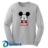 Disobey Mickey Sweatshirt Unisex Adult Size S to 3XL | Disobey Mickey Sweatshirt