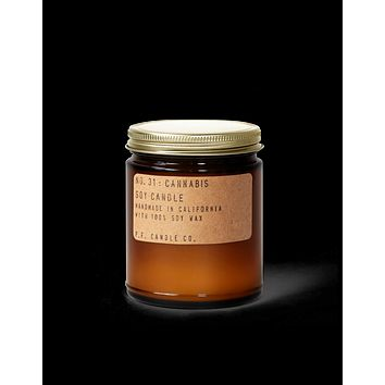 P.F. CANDLE CO. STANDARD SOY CANDLE- NO.031: CANNABIS