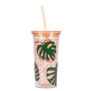 BAN.DO SIP SIP TUMBLER WITH STRAW - MONSTERA