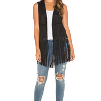 BLANKNYC Fringe Vest in Friday Fever