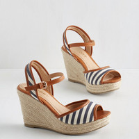 ModCloth Nautical Pier-fect Form Wedge