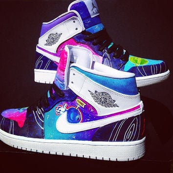 Space Jam Nike Air Jordan 1's Custom Made