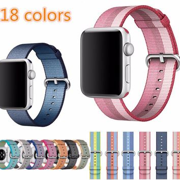 Sport Stripe woven fabric band strap for Apple Watch