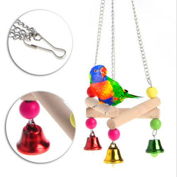 Hot Sale Pet Hanging Toy Chew Toy Bird Parrot Parakeet Budgie Cockatiel Cage Hammock Swing Toy Perches Stands Swings Birdcage