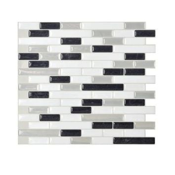 Smart Tiles, 10.20 in. x 9.10 in. Peel and Stick Mosaic 3D Gel Decorative Wall Tile Backsplash Muretto Alaska in White and Grey, SM1057-1 at The Home Depot - Tablet
