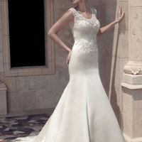 Casablanca Bridal 2141 Sheer Back Wedding Dress
