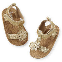 Carter's Glitter Sandal Crib Shoes