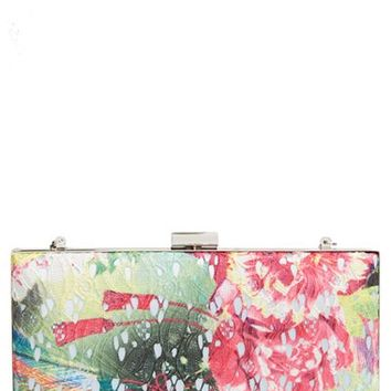 Sondra Roberts Floral Lace Frame Clutch
