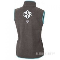 PFG Harborside Monogram Fleece Vest | Marleylilly