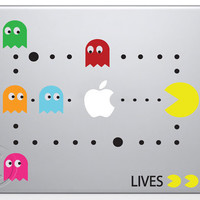 Pac Man Retro MacBook Decal Mac Apple Pro Sticker 13 by MegaVinyl