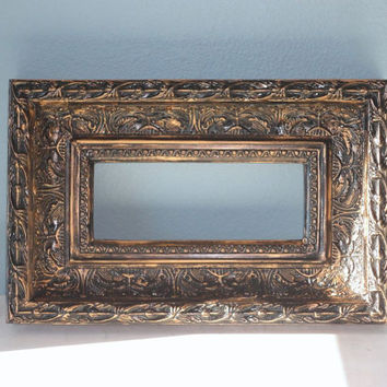 Ornate Black and Gold Picture Frame
