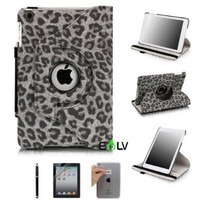 iPad Mini Case, E LV iPad Mini Case Cover - Shock-Absorption / Impact Resistant Rotating Stand PU Leather Full Body Protective Case Cover for Apple iPad Mini [Compatible with iPad Mini with Retina Display (7.9 inch Tablet) & iPad Mini (7.9 inch Tablet)] (A