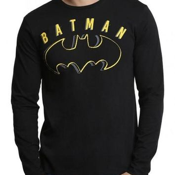 Batman Black Full Sleeves Men T-Shirt