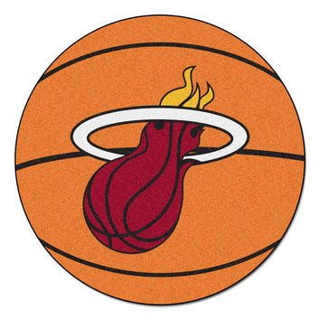 Miami Heat NBA Basketball Mat (29 diameter)